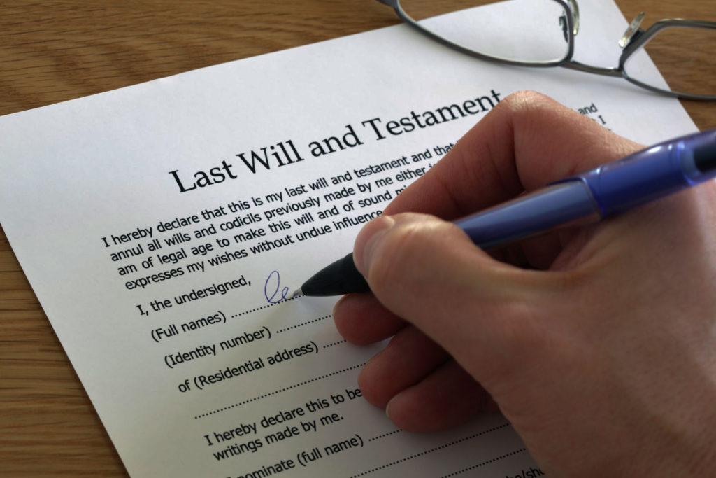 living trust and estate plan will sample image